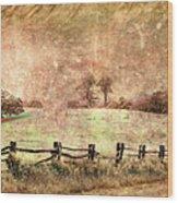 Imaginary Morning On The Blue Ridge II Wood Print