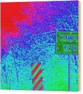 Imaginary River Crossing Wood Print