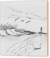 Imagination 1993 - Atlantic Coast Beach No 2 Wood Print