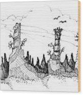 Imagination 1993 - Eagles Over Desert Rocks Wood Print