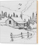 Imagination 1993 - Mountain Cabin Wood Print