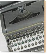 Imagination Typewriter Wood Print