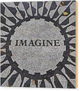 Imagine A World Of Peace Wood Print