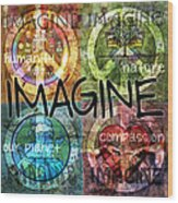 Imagine Wood Print by Evie Cook