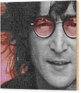 Imagine John Lennon Again Wood Print by Tony Rubino
