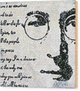 Imagine-john Lennon Wood Print