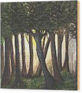Imagined Forest Wood Print