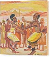 Imbiyino Dance From Rwanda Wood Print