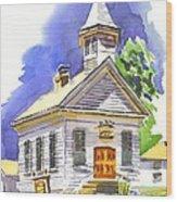 Immanuel Evangelical Lutheran Church Pilot Knob Missouri Wood Print