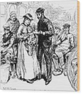 Immigrant Inspection, 1883 Wood Print