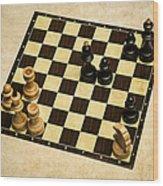 Immortal Chess - Anand Vs Topalov 2005 Wood Print