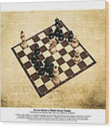 Immortal Chess - Byrne Vs Fischer 1956 - Moves Wood Print