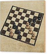 Immortal Chess - Kasparov Vs Topalov 1999 Wood Print