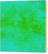 Impassive Aqua Green Wood Print