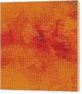 Impassive Golden Wood Print
