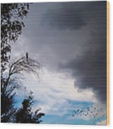 Impending Storm Wood Print