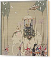 Imperial Procession Wood Print by Georges Barbier