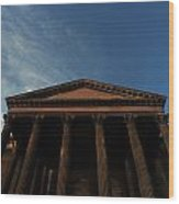 Imposing And Enigmatic Structure Wood Print