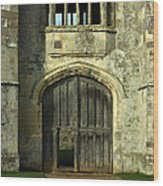 Imposing Front Door Of Titchfield Abbey Wood Print