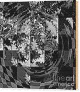 Impossible Reflections B/w Wood Print