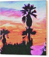 Impression Desert Sunset V2 Wood Print