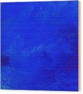 Impression Midnight Blue Wood Print