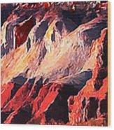 Impression Of Capitol Reef Utah At Sunset Wood Print