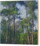 Impression Trees Wood Print