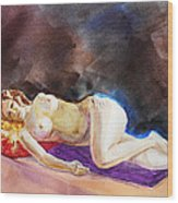 Impressionism Of Reclining Nude Wood Print
