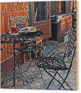 Impressionism The Looney Bean Cafe  Wood Print