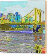 Impressionist Clemente Bridge 2 Wood Print