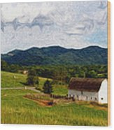 Impressionist Farming Wood Print