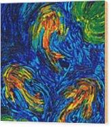 Impressionist Koi Fish By Sharon Cummings Wood Print