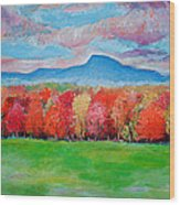 Impressionist New Jersey Autumn Wood Print