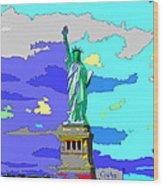Impressionist Statue Of Liberty Wood Print