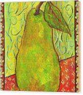 Impressionist Style Pear Wood Print by Blenda Studio