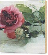 Impressionistic Watercolor Roses, Romantic Watercolor Pink Rose  Wood Print