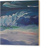 Impressionistic Abstract Wave Wood Print