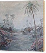 Impressionistic Palms Wood Print