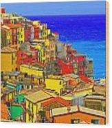 Impressionistic Photo Paint Gs 008 Wood Print