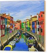 Impressionistic Photo Paint Gs 013 Wood Print