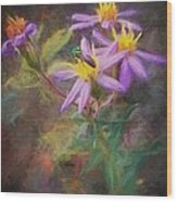 Impressions Of An Aster Wood Print