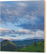 Impressions Of Mountains And Magical Clouds Wood Print