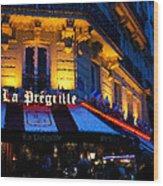 Impressions Of Paris - Latin Quarter Night Life Wood Print