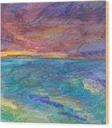 Impressions Of The Sea 1 Wood Print