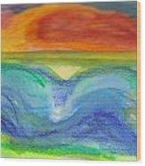 Impressions Of The Sea 4 Wood Print