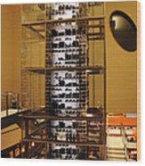 Impressive Wine Rack Wood Print