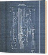 Improvement To Muzzle-loading Fire-arm - Vintage Patent Blueprint Wood Print