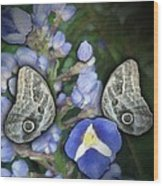 In A Butterfly Garden Two Wood Print
