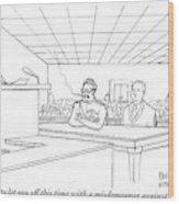 In A Courtroom Wood Print